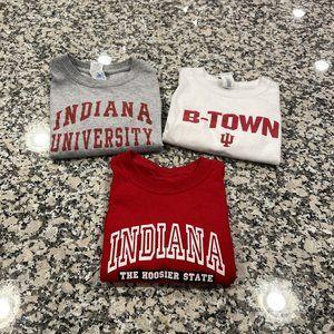 Lot of 3 Kids Indiana University T-shirts